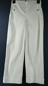 NEW Spanx Wide Leg Twill Pull-On Pants in White - Size XS #686