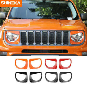 Lamp Front Headlight Lamp Decoration Cover Trim Sticker For Jeep Renegade 2019+