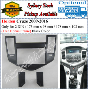 Fascia facia Holden Cruze 2009-2012 (Black) Double Two 2 DIN Dash Kit-