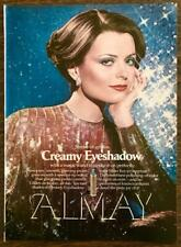 1976 Almay Creamy Eyeshadow PRINT AD Shades From Silver Fox to Sapphire