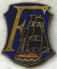 """WWII French Naval Badge for F-Class Destroyer """"Le Fantastique"""" (The Whimsical)"""