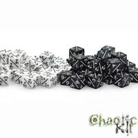 Dice Counters, White +1/+1 and Black -1/-1. MTG. Magic the gathering. Tabletop
