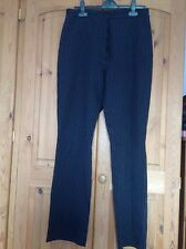 ladies black pin striped trousers