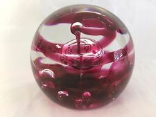vintage SELKIRK 1979 RED MIRAGE 204/500 art glass paperweight scotland