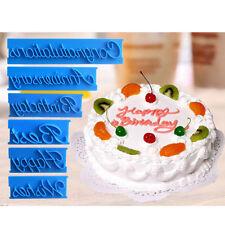 6Pcs Letter Fondant Cake Decorating Icing Cutter Mould Sugarcraft Cupcake Bake