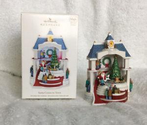 2011 Hallmark Keepsake Ornament Santa Comes to Town Magic Sounds and Motion