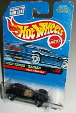 Hot Wheels 1998 #747 Tech Tones Series 3 of 4 Speed Machine Black Gold 18813