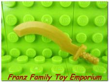 New LEGO Weapon Ninjago Minifig Pearl Gold Sickle SWORD Skeleton Ninja Khopesh