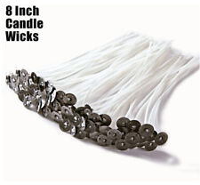 50 Pre Tabbed Candle Wick 8 Inch Cotton Core MADE IN USA Candle Making Supplies
