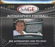 2010 Sage Autographed Football Hobby Box - Factory Sealed!
