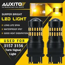 2x AUXITO Yellow Amber 3157 LED DR Turn Signal Parking Light Blinker Corner Bulb
