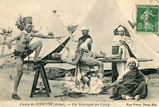 Camp Militaire de SISSONNE Les Sauvages au Camp Homme cuit au feu de bois