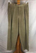 Hugo Boss Mens 32x28 Beige Corduroy VINTAGE Classic Fit Dress Pants
