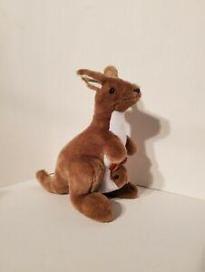 "Australia 11"" Kangaroo & Joey Plush Soft Toy Stuffed Animals Blue Gum Koala"