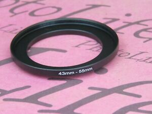 43mm to 55mm Stepping Step Up Filter Ring Adapter 43mm-55mm