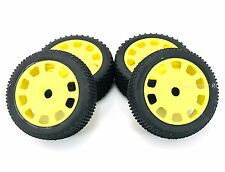 Kyosho DBX VE 2.0 Pre-Mounted Yellow Wheels & Tires (1:8 Buggy/17mm) IFH003KY