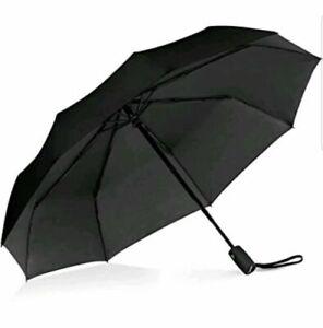 Repel Windproof Travel Umbrella with Teflon Coating BLACK