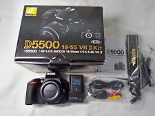 Nikon D5500 24.2 MP Digital SLR Camera Original Package Excellent