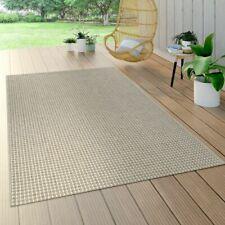 In- & Outdoor Flachgewebe Teppich Sisal Optik Natürlicher Look Einfarbig Creme
