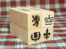 Scottish Heraldic Symbols Mini Rubber Stamp Set of 4 * Scotland #MSS3