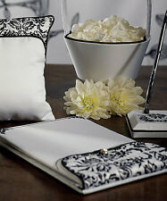 Love Bird Damask Black and White Guest Book and Pen Wedding Guest Book