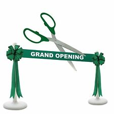 """25"""" Green/Silver Ceremonial Ribbon Cutting Scissors Deluxe Grand Opening Kit"""