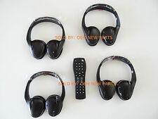 5 New OEM GM 2 Channel IR Fold Flat Headphones Headset + DVD Remote TV Rear