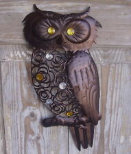 Wall Deco Owl Metal 45cm High Wall Decoration Antique Country Style Owl NEW