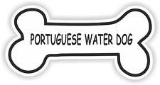 PORTUGUESE WATER DOG BONE STICKER BREED NAME FOOD BOWL PUPPY PET VINYL DECAL