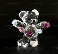 RARE Retired Swarovski Crystal Kris Bear Flowers for You 1016620 Mint Boxed
