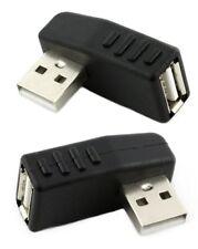2x Adapter USB 2.0 Stecker auf Buchse links und rechts gewinkelt 270° horizontal
