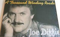 JOE DIFFIE Signed Vintage A THOUSAND WINDING POADS 34x24 Autograph Poster COA