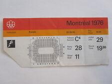 SUMMER OLYMPICS 1976 MONTREAL VOLLEYBALL TICKET STUB