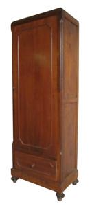 Armadio stretto in noce un anta  e un cassetto  - madia - dispensa  - primi 900