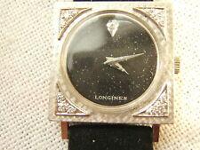 LONGINES 14K GOLD WRIST WATCH UNUSUAL TUXEDO