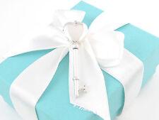 Tiffany & Co Silver Heart Key Locket Pendant Charm Box Included