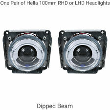 One Pair of Hella 100mm Dipped Beam Headlights for RHD or LHD