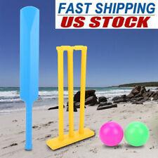 Outdoor Sports Cricket Set w/ Balls Children Beginner Kit Kids Toy Gift Game Usa