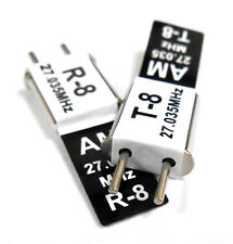 27 MHz le transmetteur and Radio RC Crystal Set 27 MHZ 27.035 TX & RX Black Ch 8