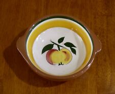 Vintage Stangl small lugged bowl in FESTIVAL pattern Apple motif Artist signed