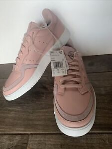 New Adidas Originals Supercourt Leather Pink White Casual Shoes Women Size 10