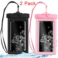 2 Pack Universal Waterproof Floating Swim Cell Phone Pouch Dry Bag Case Cover Us