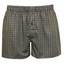 Hanro Fancy Woven Checked Button-Fly Men's Boxer Shorts, Grey