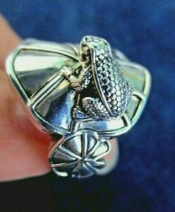 Barry Kieselstein Cord  Sterling Silver Frog Ring Size 7 KC Studio 2011 EUC