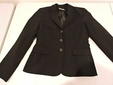 Calvin Klein Polyester Blend Black 3 Button Lined Blazer - Size - 6