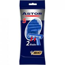 BIC Astor Twin Razor Blades For Men Hair Removal 5 Pieces