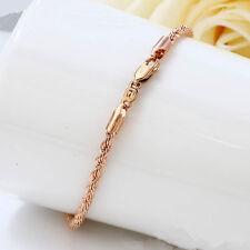"""Men Ladies 9ct 9k Yellow /""""Gold Filled/""""Curb Ring links Bangle Bracelet 8.3/"""",2228"""
