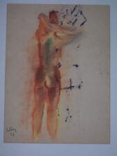 Künstlerische Aquarell-Malereien im Expressionismus-Stil mit Akt- & Erotik-Motiv