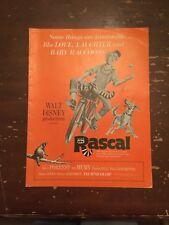 1969 Walt Disney Productions Rascal Original Movie Pressbook