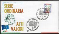 Repubblica, FDC Filagrano - 6,20 euro Alti valori Siracusana, 01/03/2002